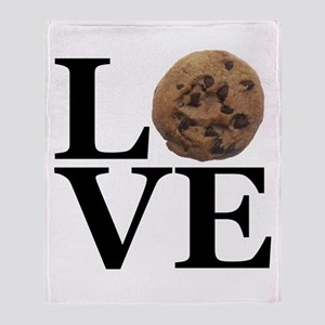 LOVE Chocolate Chip Cookie Throw Blanket