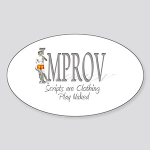 Improv Oval Sticker