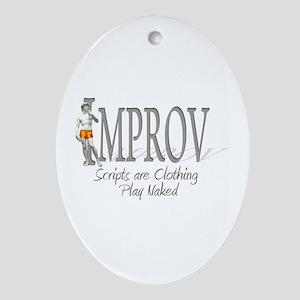 Improv Oval Ornament