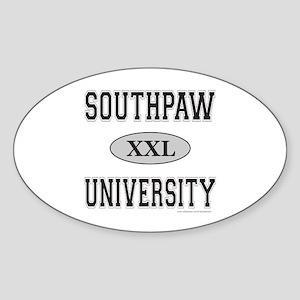 SOUTHPAW UNIVERSITY Oval Sticker