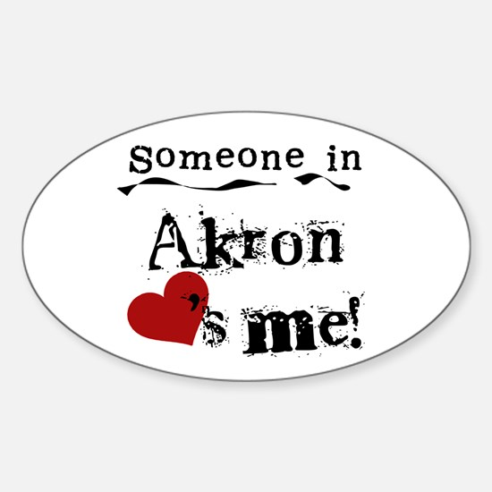 Akron Loves Me Oval Decal