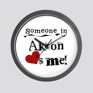 Akron Loves Me Wall Clock