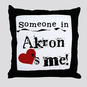 Akron Loves Me Throw Pillow