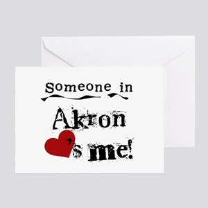 Akron Loves Me Greeting Card
