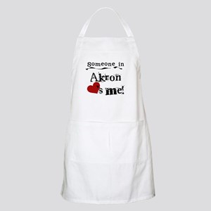 Akron Loves Me BBQ Apron