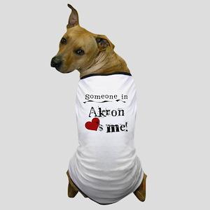 Akron Loves Me Dog T-Shirt