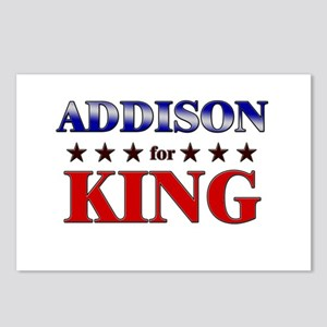 ADDISON for king Postcards (Package of 8)