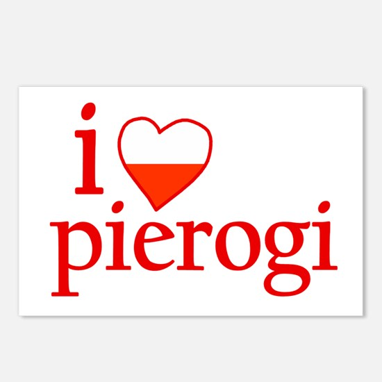 I Love Pierogi Postcards (Package of 8)