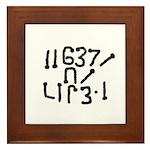 Geek, Get a life! Framed Tile