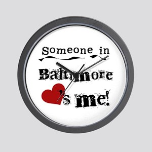 Baltimore Loves Me Wall Clock