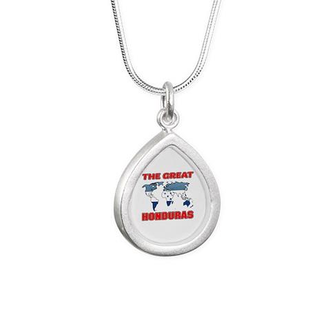 The Great Honduras Desig Silver Teardrop Necklace