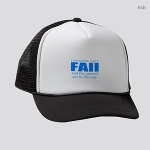 Funny accident Kids Trucker hat