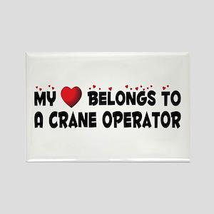 Belongs To A Crane Operator Rectangle Magnet