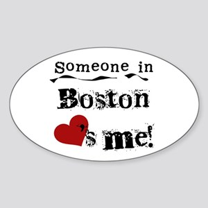 Boston Loves Me Oval Sticker