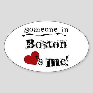 Boston Loves Me Oval Sticker