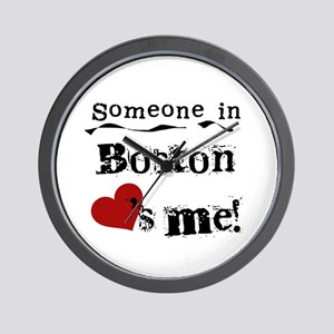 Boston Loves Me Wall Clock