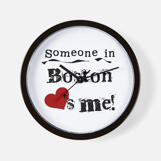 Boston Loves Me Wall Clock