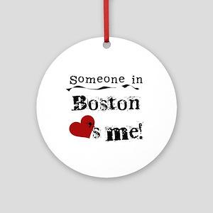 Boston Loves Me Ornament (Round)
