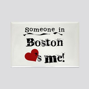 Boston Loves Me Rectangle Magnet