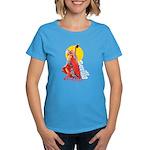 Flamenco Women's Blue T-Shirt
