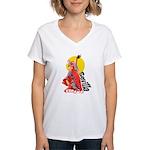 Flamenco Women's V-Neck T-Shirt