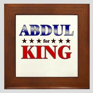 ABDUL for king Framed Tile