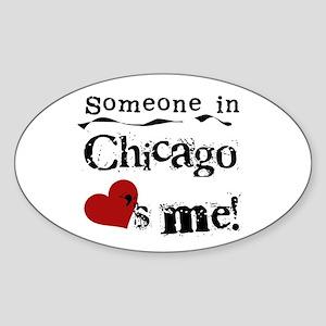 Chicago Loves Me Oval Sticker