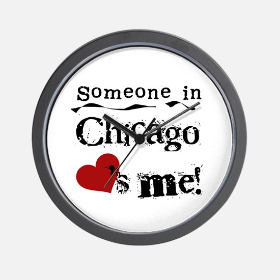 Chicago Loves Me Wall Clock