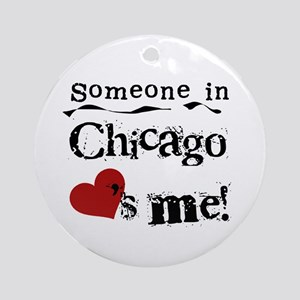 Chicago Loves Me Ornament (Round)
