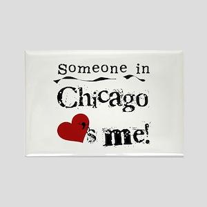 Chicago Loves Me Rectangle Magnet