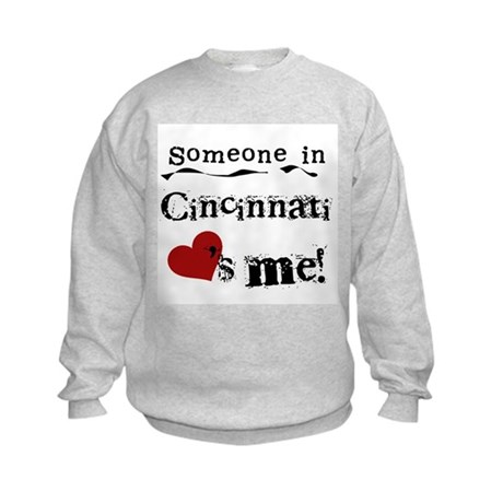 Cincinnati Loves Me Kids Sweatshirt