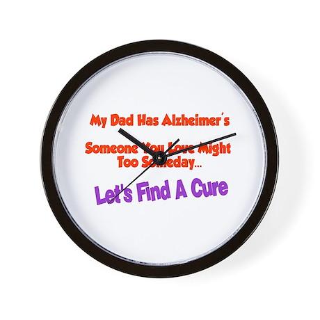 Dad alzheimer's Wall Clock