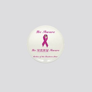The OES Pink BC Ribbon Mini Button