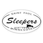 Sleepers Oval Sticker