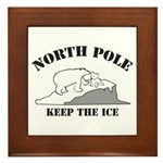 Earth Day : Save the North Pole Framed Tile