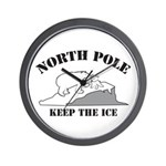 Earth Day : Save the North Pole Wall Clock