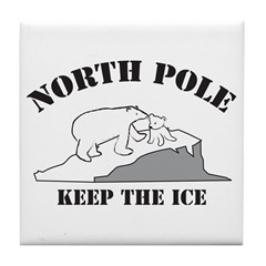 Earth Day : Save the North Pole Tile Coaster