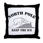 Earth Day : Save the North Pole Throw Pillow