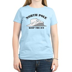 Earth Day : Save the North Pole Women's Light T-Sh