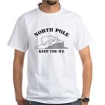 Earth Day : Save the North Pole White T-Shirt