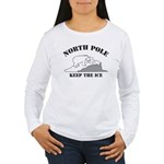 Earth Day : Save the North Pole Women's Long Sleev