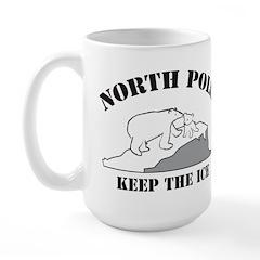 Earth Day : Save the North Pole Large Mug