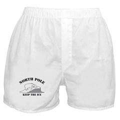 Earth Day : Save the North Pole Boxer Shorts