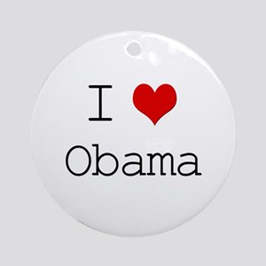 I Heart Obama Ornament (Round)