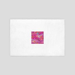 Pink-Tinted Pastel Marbling 4' x 6' Rug