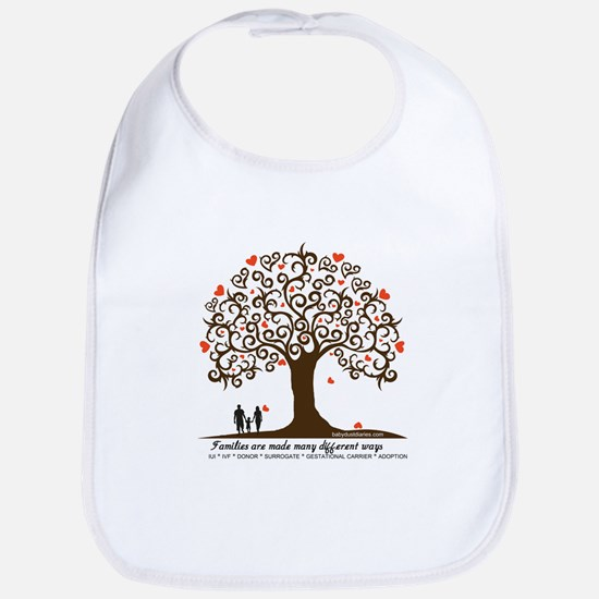 Infertility Family Tree Baby Bib
