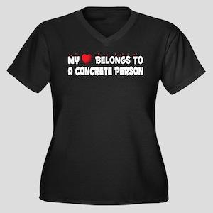 Belongs To A Concrete Person Women's Plus Size V-N