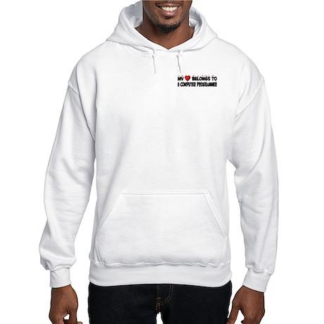 Belongs To A Computer Programmer Hooded Sweatshirt