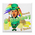 Barack O'Blarney anti-Obama Tile Coaster