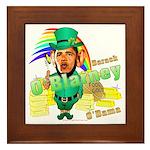 Barack O'Blarney anti-Obama Framed Tile